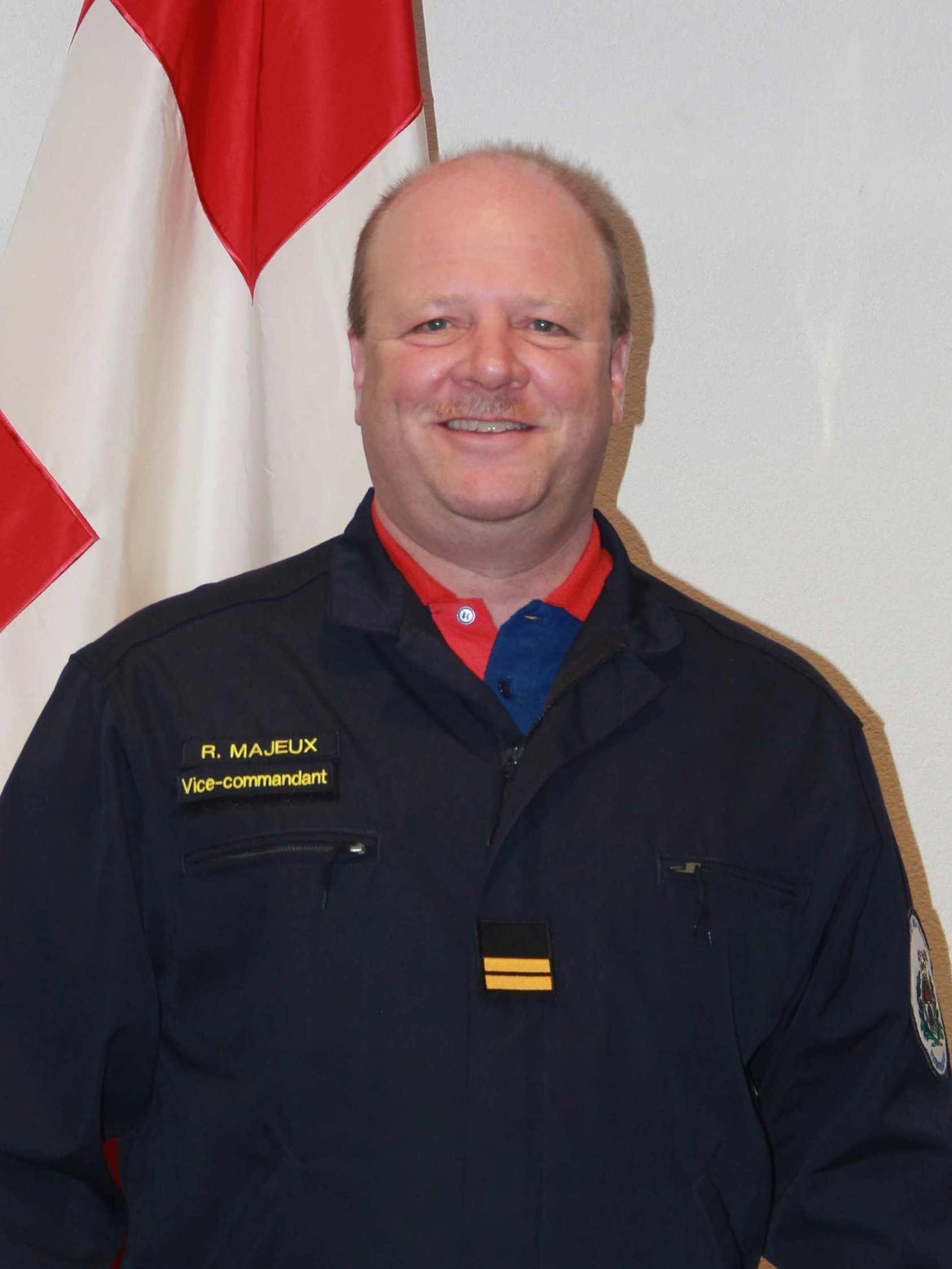 Lt-colonel Richard Majeux, Vice-commandant, Officier instructeur